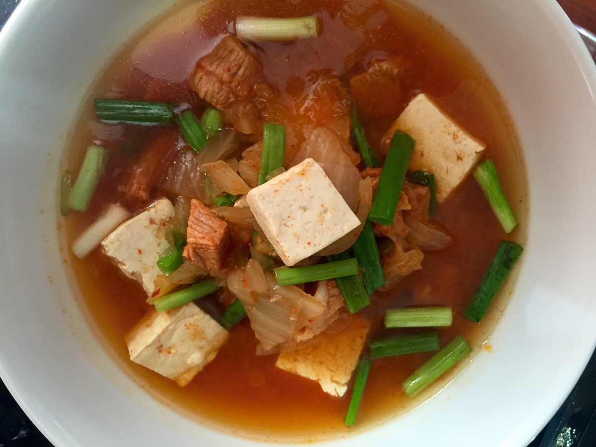 kimchi and pork belly recipes dishmaps tofu with kimchi and pork belly ...